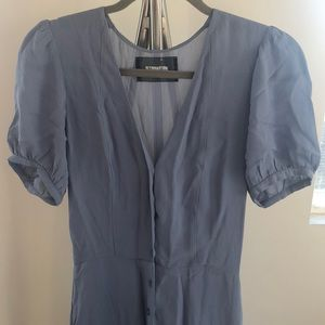 Baby Blue Button Down Reformation Dress